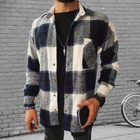 Men's Casual Shirts Fashion Spring Plaid Flannel Man Long Sleeve Soft Comfort Slim Fit Styles Men Jacket Cardigan Shirt 2021