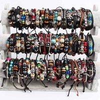 Bracelet bracelet bracelet en gros amoureux cadeaux punk motard mode bijoux 30pcs mixte manchette ethnique charme rétro millésime accessoires