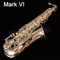 جودة عالية مارك السادس 1958 ألتو ساكسفون الفضة مطلي نسخة 99٪ نفس الأصلي eb e flat sax