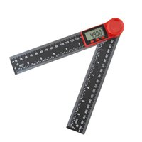 Display Two-in-one Plastic Angle Ruler Protractor Digital Black Vernier Caliper Level 200mm 8SF5