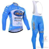 Delko Takımı Bisiklet Uzun Kollu Jersey Önlüğü Pantolon Setleri 2021 Erkekler MTB Bisiklet Nefes Yarış Bisiklet Giyim U40344
