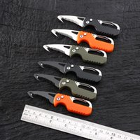 Mini multifunctional portable open box knife outdoor portable survival folding knives car emergency rescue tool mountaineering ring key chain pendant pocket EDC