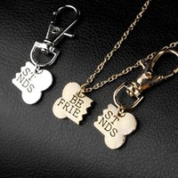 Friendship Necklace Key Chain Friends Charm Dog Tag Collar Pendant Matching Gift 2 Piece Set Men Women Jewelry 1 Collars & Leashes