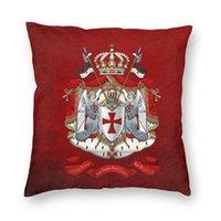 Kissen / dekorative Kissen Ritter Templar Flaggen Wappen Wappen Square Kissenbezug Dekor Mittelalterliche Krieger Kreuzkissenbezug Wurf zum Leben r
