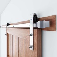 Kinmade Brushed Nichel Sliding Barn Door Hardware Hardware Set per appendiabiti di base in legno