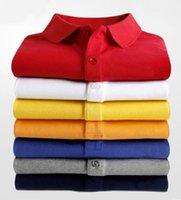 2021 Summer Cotton Men Big Piccolo Cavallo Coccodrillo Ricamo Brevi Polo Polo Colore solido Alta qualità Casual Fashion Plus Size S-5XL