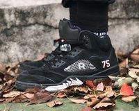 En Kaliteli Basketbol Ayakkabı 5 S Erkek Jumpman 5 Siyah Metalik Moda Açık Sneakers AV9175-001