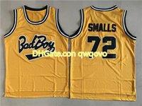 Pas cherMovie Basketball Jerseys Bad garçon Notorious Big 72 Biggie Smalls Jersey Men Sport Toute la couleur jaune cousue de qualité supérieure en vente