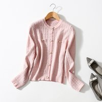 2021 Autumn Winter Long Sleeve Round Neck Black   Red Solid Color Woolen Knitted Panelled Single-Breasted Cardigan Sweater Fashion Sweaters Coats 21S12ZK2452
