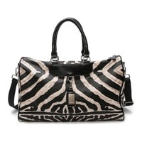 Fashion Travel Bag Hand Luggage Zebra Pattern Tote Bags For Women Crossbody Large Capacity Women's Leather Weekender Duffel