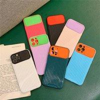 Equipaje Contraste Color Slide Cámara Lente Protección Estuches para teléfono para iPhone 12 PRO MIN 11 MAX 8 7 PLUS X XR XS Funda de descarga de descarga fuerte