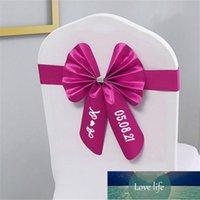Schärpen 10 stücke Personalisierte Hochzeitsstuhl Schärpe Herr Mrs Name Bogen Band mit Schnalle Multi Colors Custom Bridal Bögen