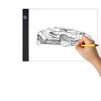 Novelty Light Novelt Lighting Graphics Tablet LED Cartoon Painting LEDy Lights Pad A4 Drawings Board DIY Luminous Writing TabletDrawing Tablets LEDs Box