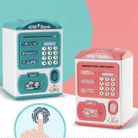 Kids Gift Toy Creatieve Vingerafdruk Money Box ATM-wachtwoord Save Elektronische spaarvarken voor Papermoney Cartoon Child Bank