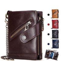 Wallets 2021 Men Wallet Genuine Leather Men's Purse Design Male With Zipper Coin Pocket Card Holder Luxury