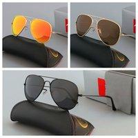 Marka Tasarım Sunglass Lüks Moda Gözlük Erkek Kadın Pilot UV400 Gözlük Klasik Sürücü Güneş Gözlüğü Metal Çerçeve Cam Lens Kutusu Ile