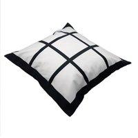 Panneaux de sublimation Taie d'oreiller 40 * 40 Coussin d'oreiller thermique Coussin de panneau sans inserts Polyester Tillowcover WY1438