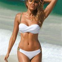 MyTeng Brazilien Sexy Bikinis Solid Bikinis Mujer Push Up Maillots de bain Femmes Summer Summer Taille Maillot de bain rembourré Sous-enfant Biquini 210522