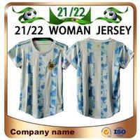 2021 Copa America Argentina Mulheres Futebol Jersey 21/22 Home Messi Dybala Aguero Higuainl Camisa Girl Futebol uniforme de vendas