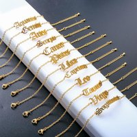 Charm Bracelets MOPAI Gold Color Stainless Steel Cutting Process Zodiac Chains For Women 12 Constellations 2021 Fashion Jewelry
