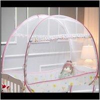 المحمولة سرير الطفل المعاوضة الرضع السرير مضاد أنيموسي خيمة المنغولية ينتقد الأطفال صافي البعوض للطي التخييم LJ200818 Z84SY L017U