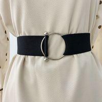 حزام سهل بدون مشبك امرأة الخصر مشد أحزمة للنساء واسعة cummerbunds مصمم مرونة كبيرة تصميم كبير اللباس حزام زائد الحجم