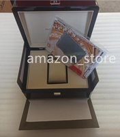 Square Woody Boxes For PP Box Watch Booklet Card Tags And Papers Men Wristwatch Case Gift Bags A026