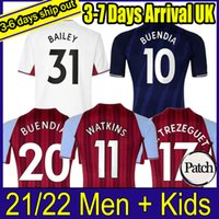 21 22 Aston Futebol Jerseys Villa Buendía Traore Barkley 2021 2022 Watkins Wesley El Ghazi M.TrezEcuet McGinn Camisa de Futebol Homens e Kits Kits