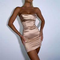 Articat Bodycon حزب اللباس للعام الجديد 2021 المرأة الحرير عارية الذراعين نادي الملابس قبالة الكتف حمالة vestidos المرأة أنيقة