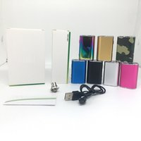 7 Colors Mini 10W Battery 1050mAh VV Box Mod Variable Voltage OLED Screen Display ECig Mods With USB Cable 510 Thread Connector adapter
