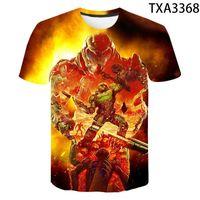 El juego Doom Eternal 3D Impresión completa camiseta Hombres / Unise Casual Baby Wear Material Suave y com TEE Boy Chica Descuento Tshirt