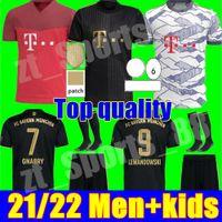 2021 2022 데이비스 바이에른 축구 유니폼 Sane Lewandowski Munchen Muller Gnabry 뮌헨 축구 셔츠 21 22 Mens Kids Kit 청소년 자식