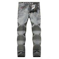 Güzellik Yüksek dereceli Erkekler Ince Vücut Uzun Kovboy Pantolon / Erkek Eğlence Rahat Nefes Kovboy Pantolon28-34