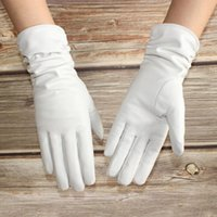 Cinq doigts Gants Bickmods Élastique Femmes Plus Velvet Automne et hiver Réparation Chaud House Blanc Cuir véritable en peau de mouton