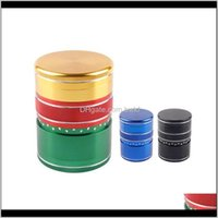 Other Household Sundries Home & Gardenhigh Quality Colorful Metal 6M 5 Layers Herb Grinder Tabao Presser Grinders Tobao Smoking Aessories Dro