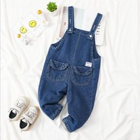 Jumpsuits 2021 Winter Thicken Warm Fleece Inside Fashion Style Baby Boys Denim Overall Girl Jumpsuit Kids Pant