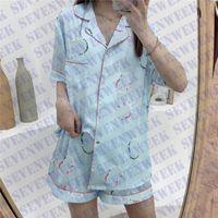 Pigiama da donna Satin Pigiama Sleepwear Set da donna Nightwear Manica Lunga Seta stampata Donne Case Case Case Case Abbigliamento