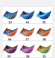 Kamp Hamakları Cibinlik Ile Net Çift Hafif Naylon Hamak Ev Yatak Odası Tembel Salıncak Sandalye Beach Campe Sırt Çantası Sea HHC7539
