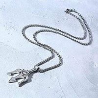 Ожерелье звезды же стиль модный WO Trident персонализированный титановый сталь модный хип-хоп простой модный мужской кулон