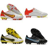 2021 Новейшая Tiempo Легенда 9 Академия AG Футбольные Обувь Высокое Качество Черный Белый Красный Футбол Степень Сапоги на открытом воздухе Size39-45