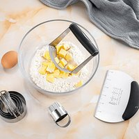 Stainless Steel Pastry Blender Flour Powder Cream Oil Mixing Machine Manual Kitchen Whisk Tool Baking Pastry Mixer Tools DWE6662
