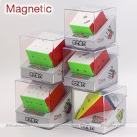 Magic Puzlle Qiyi Cubo magnético Puzzles imán 2x2x2 3x3x3 4x4x4 5x5x5 Pyramid 4x4 Pyramorphix 3x3 Mastermorphix Speed Cube Toy