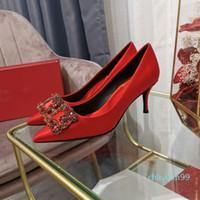 Scarpe da sposa con tacco alto appuntito da donna di lusso scarpe da sposa in pelle da sposa in pelle da sposa tacco sottile tacco sottile rosso e nero sera da notte scatto 2021