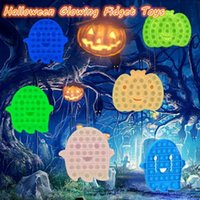 Wholesale Halloween Glowing Fidget Toys Finger Bubble Educational Toy Christmas Sensory Anxiety Stress Reliever Kids Adult for Family Birthday Gifts