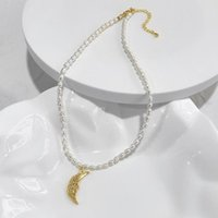 Pendant Necklaces Statement Natural Freshwater Pearls Chain Crescent Moon Necklace For Women Chic Gold Elegant Bohemian Chokers