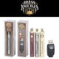 BK BRASS TKINGLE 650MAH / 900 MAH PEN PEN DAPPA BATTERIA regolabile Volable Preheat con caricatore USB per 510 cartucce di olio spessa Vaporizzatore E-sigaretta dei biscotti UNI