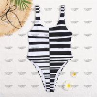 Stripes hipster costumi da bagno imbottiti push up da donna in un pezzo costumi da bagno all'aperto spiaggia nuoto viaggio bendaggio deve indossare