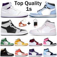 حذاء كرة السلة للرجال من نايك اير جوردان ريترو أوف وايت جمبمان 1 1s ، أرجواني جامعة ، أزرق ، ظل متوسط ، عالي OG شيكاغو ، أحذية رياضية ، مقاس أمريكي 12