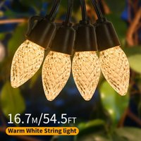 Strings Outdoor String Lights, Gusodor 48ft Shatterproof IP65 Waterproof LED Lights With 20pcs C35 1W Bulbs Commercial Grade Dimm