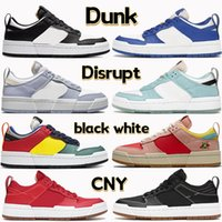 Mais novo Dunk Interromper Menu Basquetebol Sapatos CNY Preto Branco Ginásio Vermelho Jogo Royal Metálico Prata Copa Kid no Coração Mulheres Sneakers